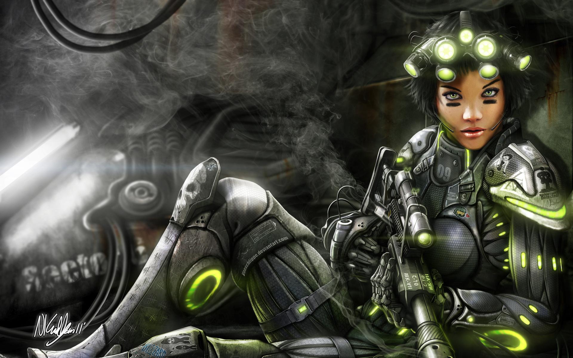 Описание космический воин девушка
